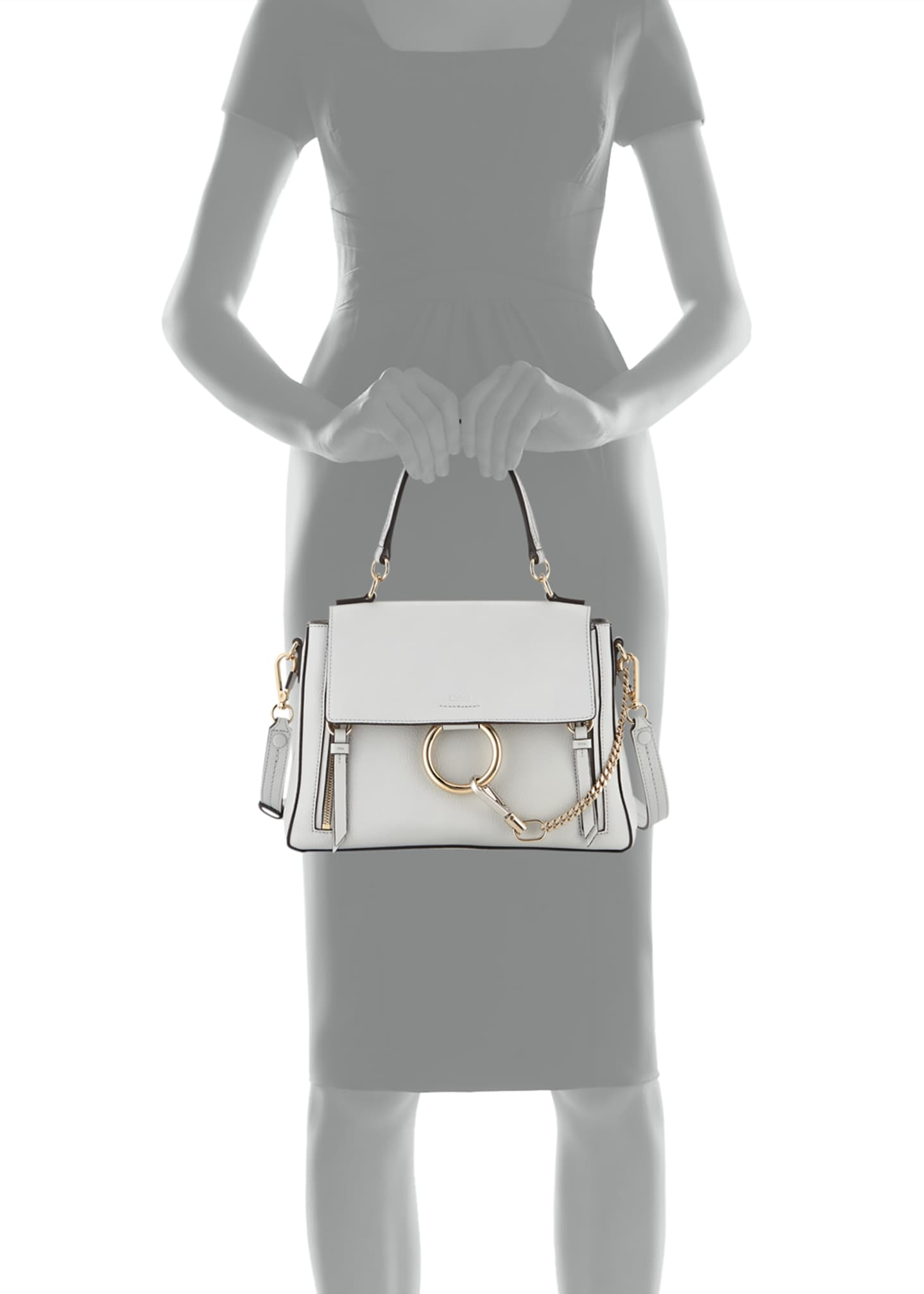 Image 4 of 4: Faye Day Small Pebbled Ring Shoulder Bag