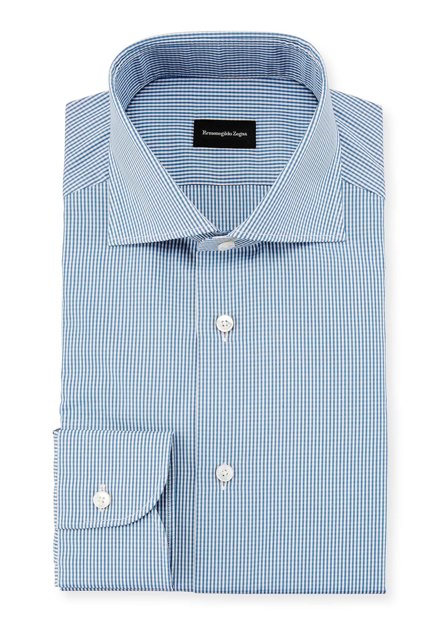 Ermenegildo Zegna Gingham Dress Shirt