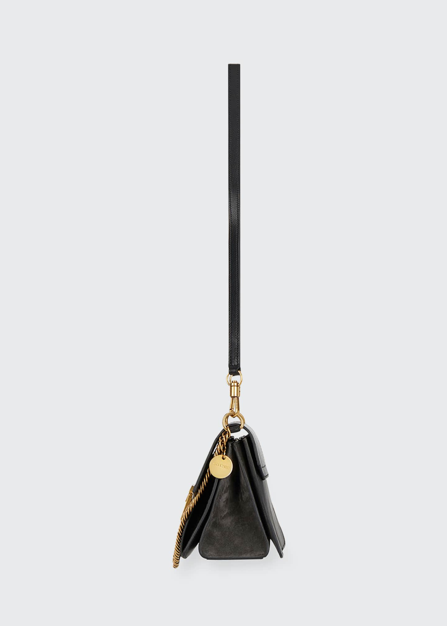 Image 4 of 5: GV3 Small Pebbled Leather Crossbody Bag