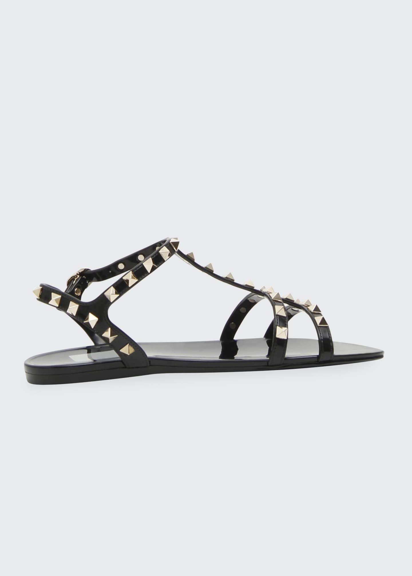 Image 3 of 4: Rockstud Jelly Flat Gladiator Sandals