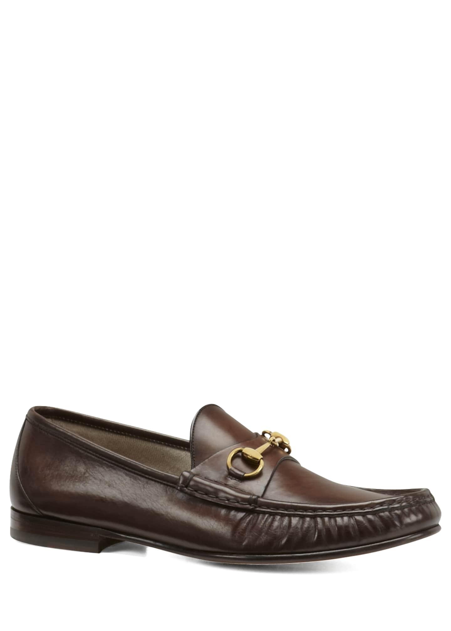 Gucci Leather Horsebit Loafer, Cocoa