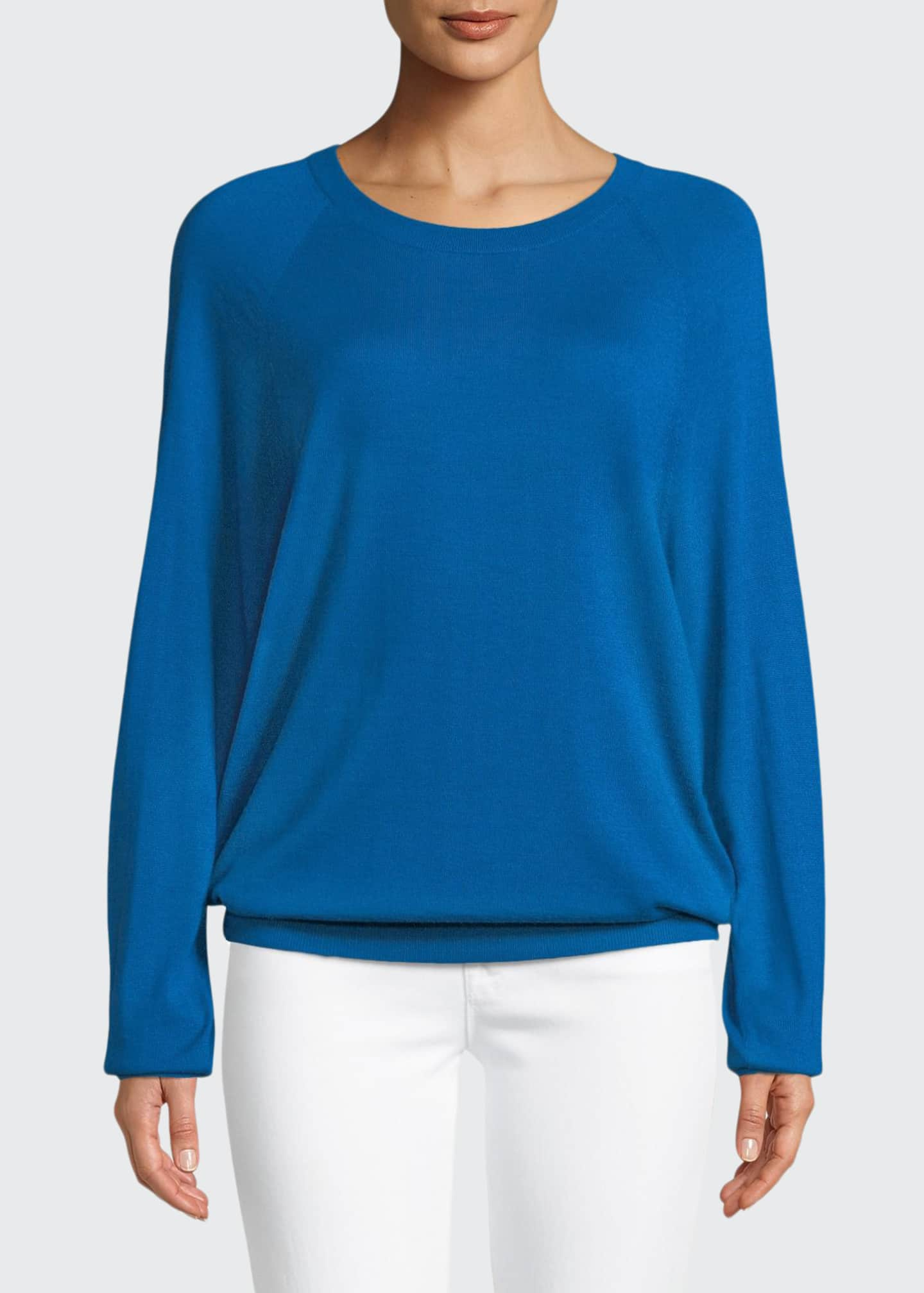 Michael Kors Collection Round-Neck Long-Sleeve Merino/Cashmere