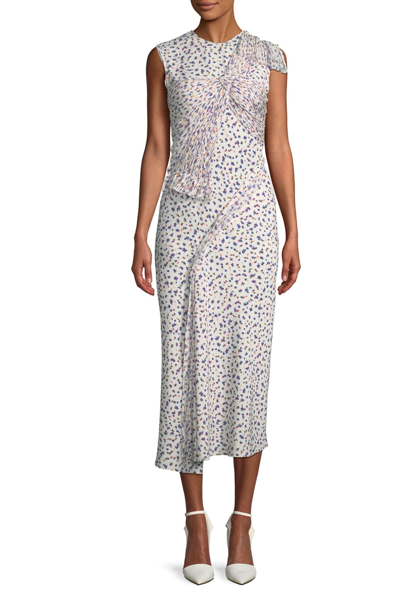 Jason Wu Sleeveless Silk Floral Fil Coupe Dress