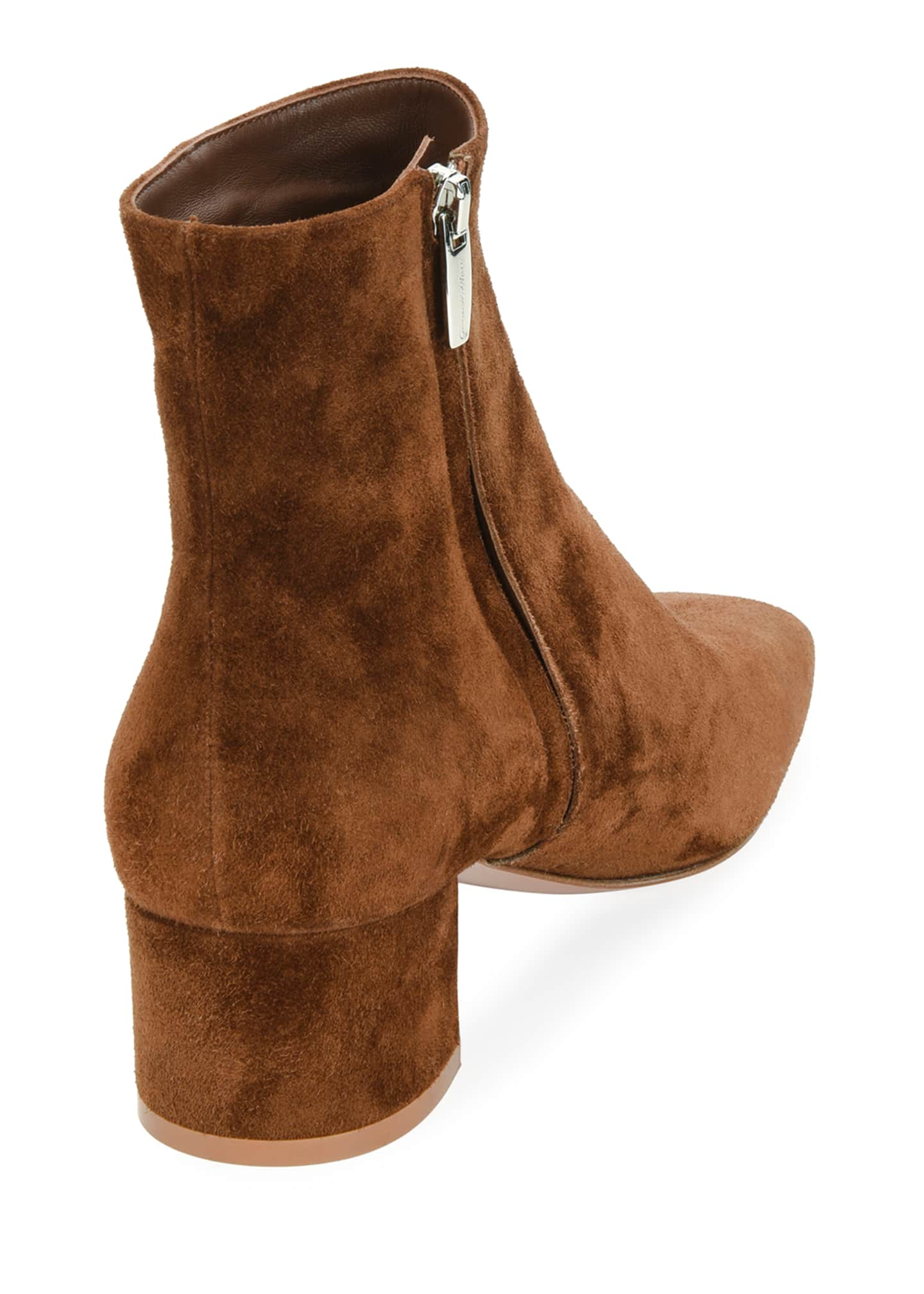 Image 3 of 3: Square-Toe Suede Bootie