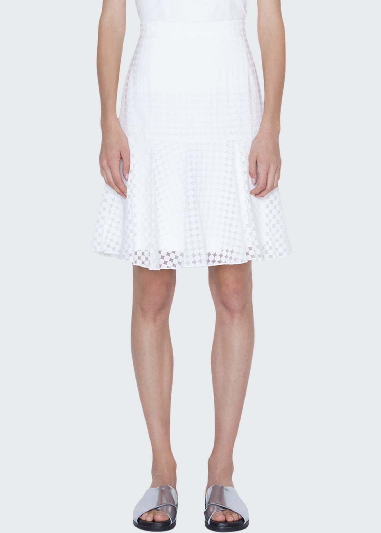 Akris punto Shadow-Dot Flounce Skirt