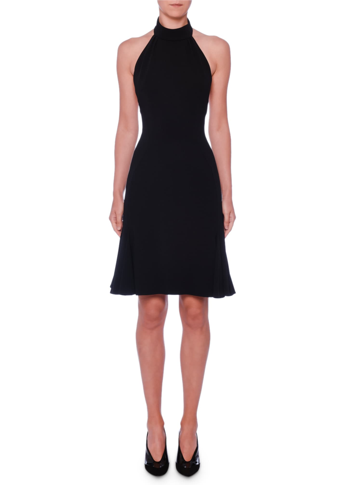 Stella McCartney Sleeveless Halter-Neck Open-Back Fit-and-Flare