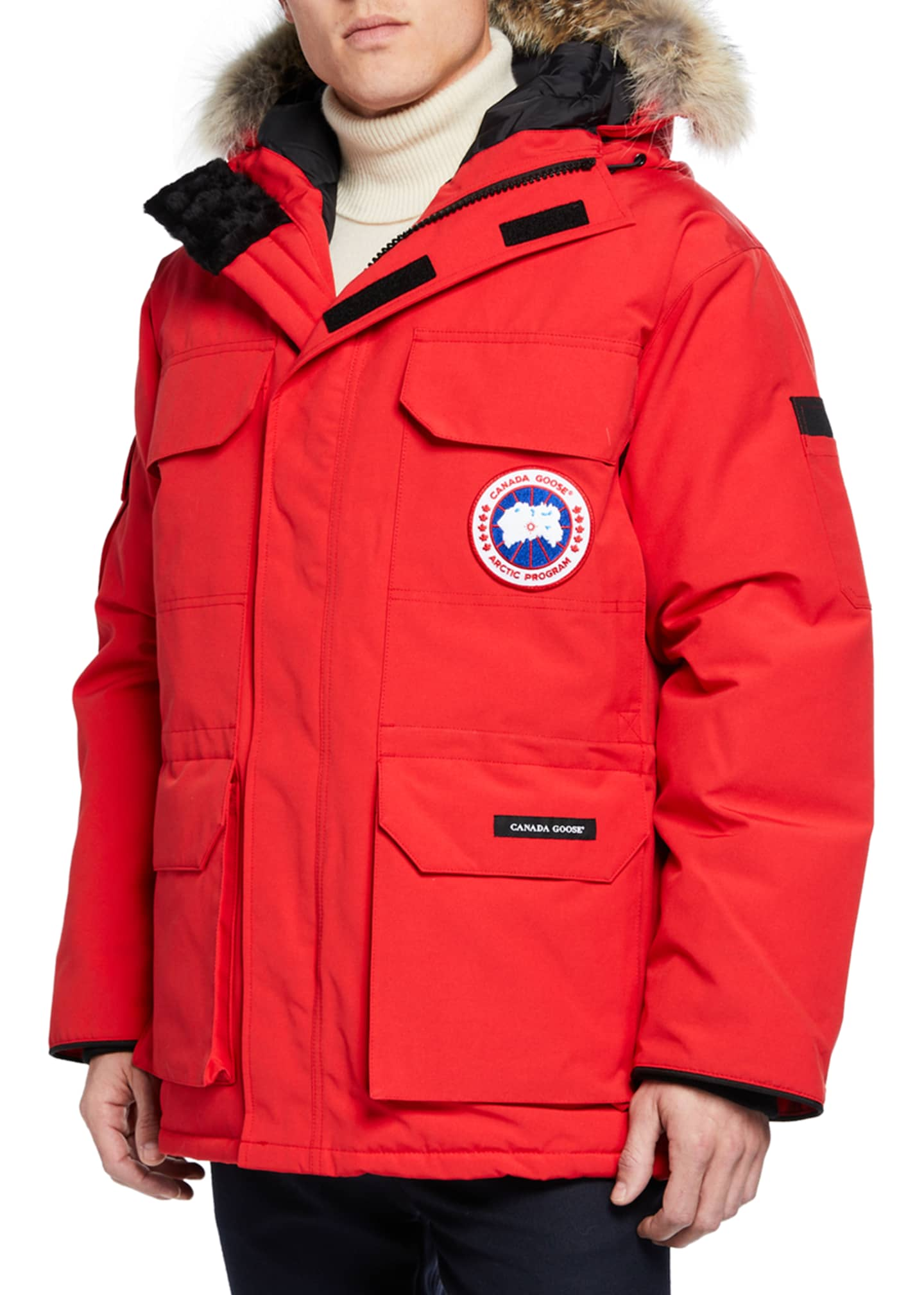 Image 1 of 3: Men's Expedition Fusion Fit Hooded Parka Coat