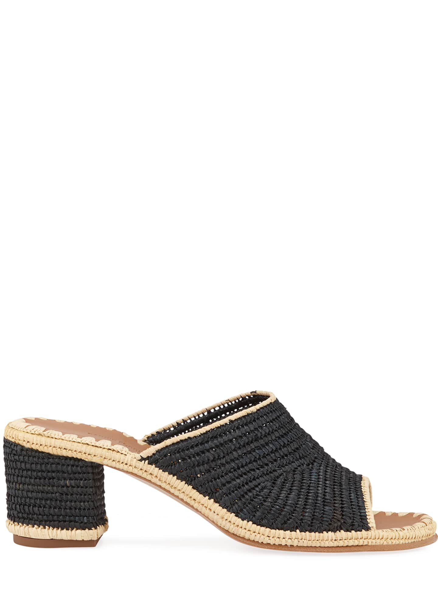 Image 2 of 3: Rama Woven Raffia Slide Sandals