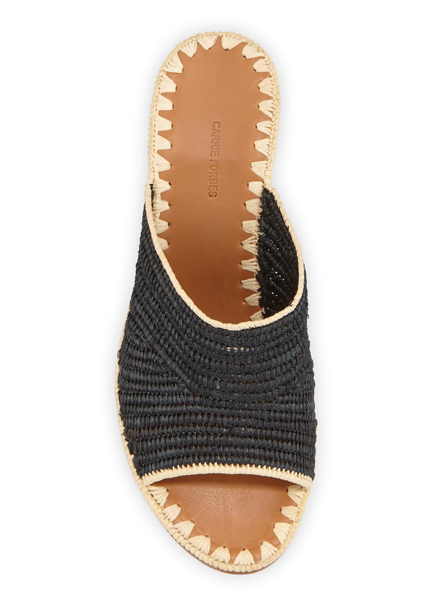 Image 3 of 3: Rama Woven Raffia Slide Sandals
