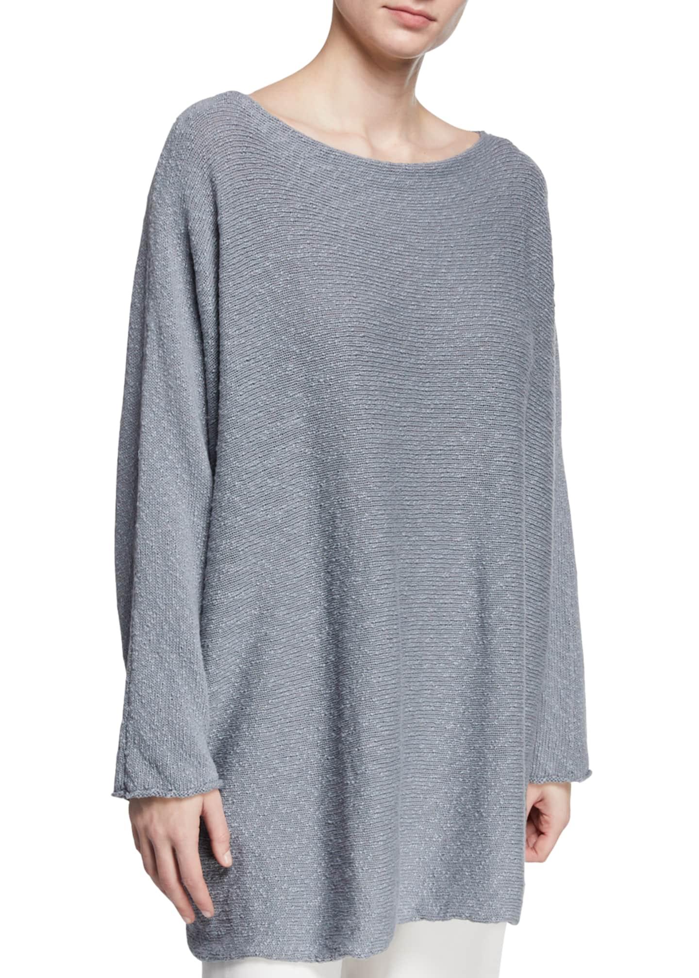Eskandar Slim-Sleeve Sideways Knitted Sweater
