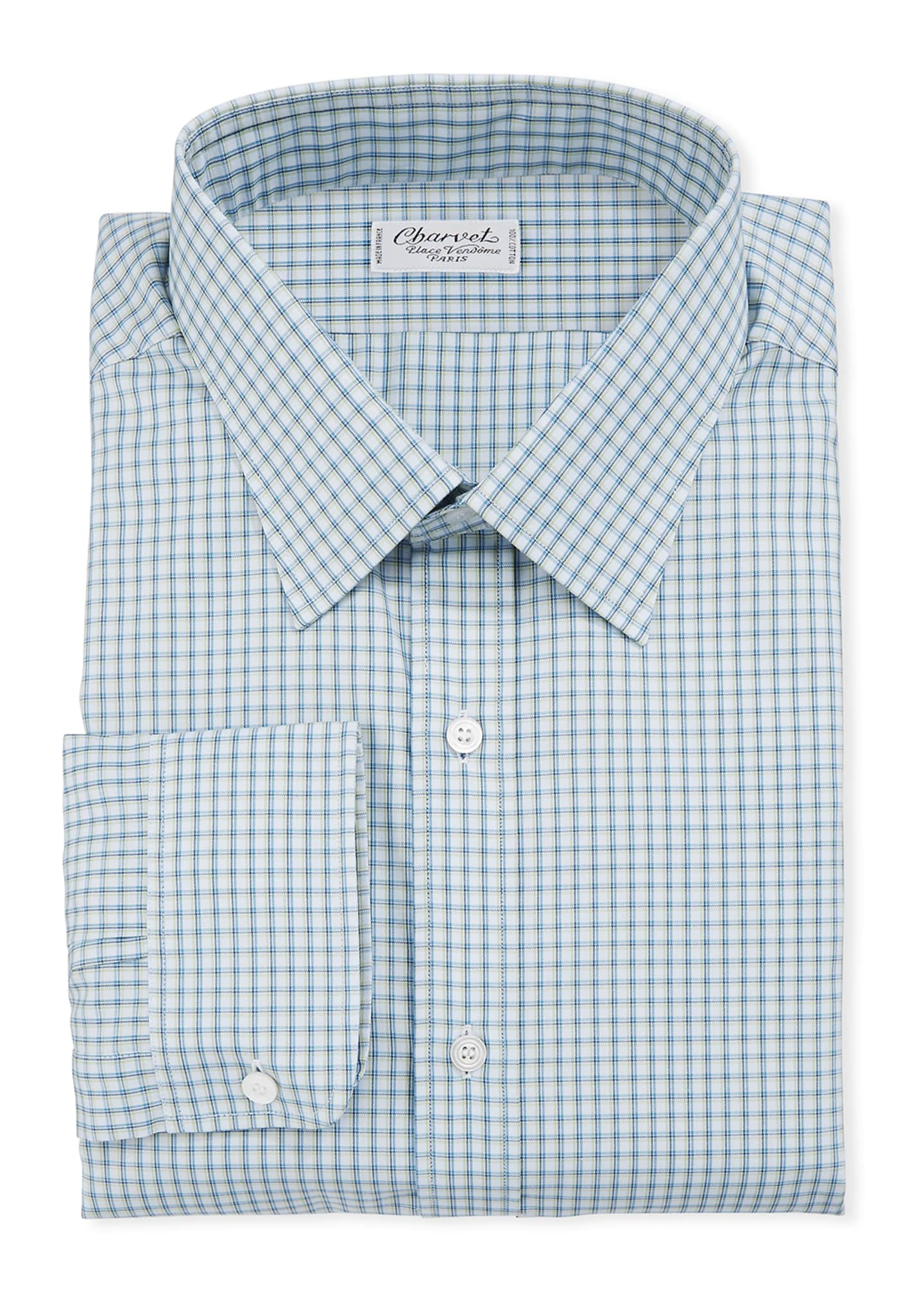 Charvet Men's Check Dress Shirt
