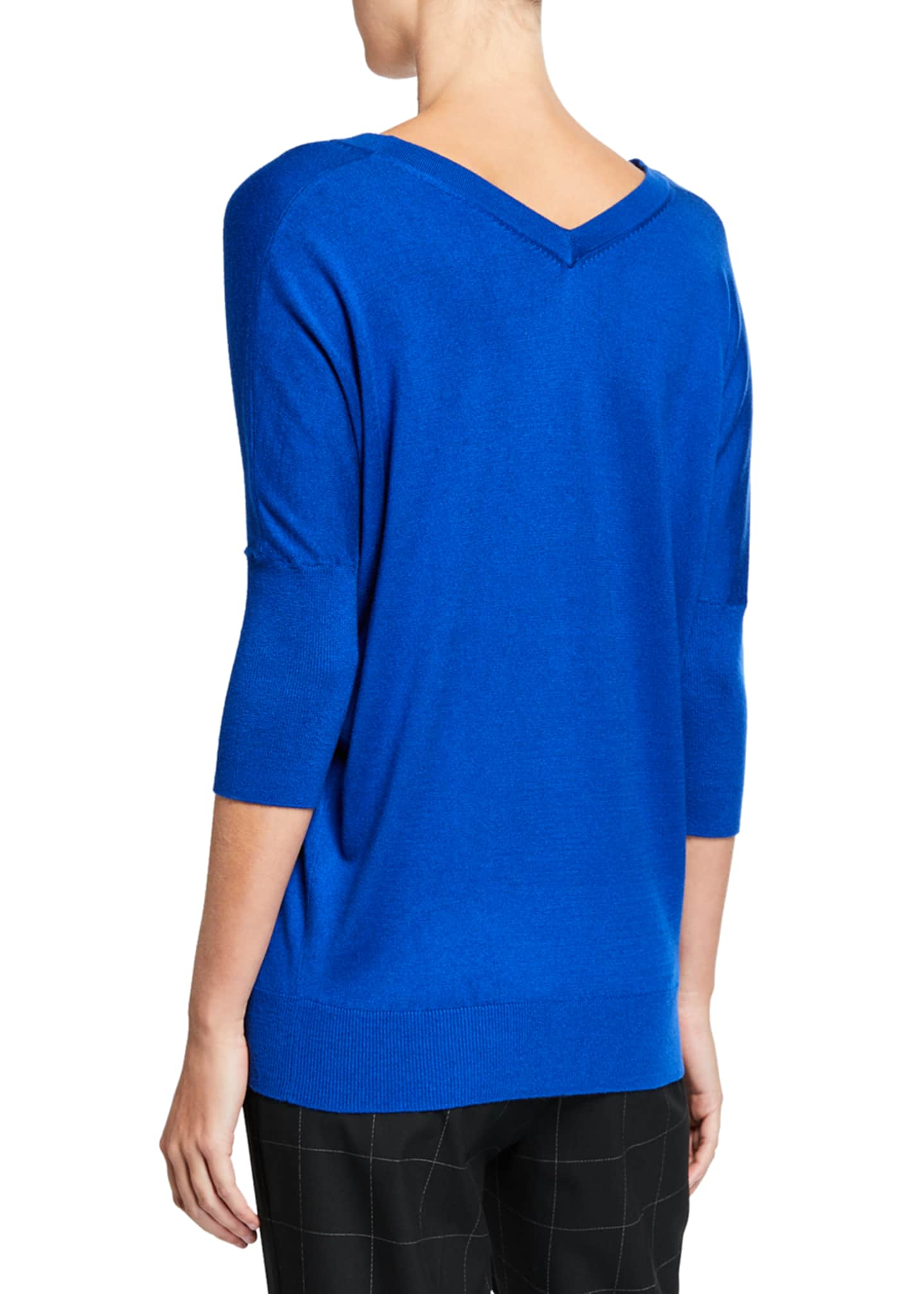 Image 2 of 2: Liola V-Neck 3/4-Sleeve Sweater