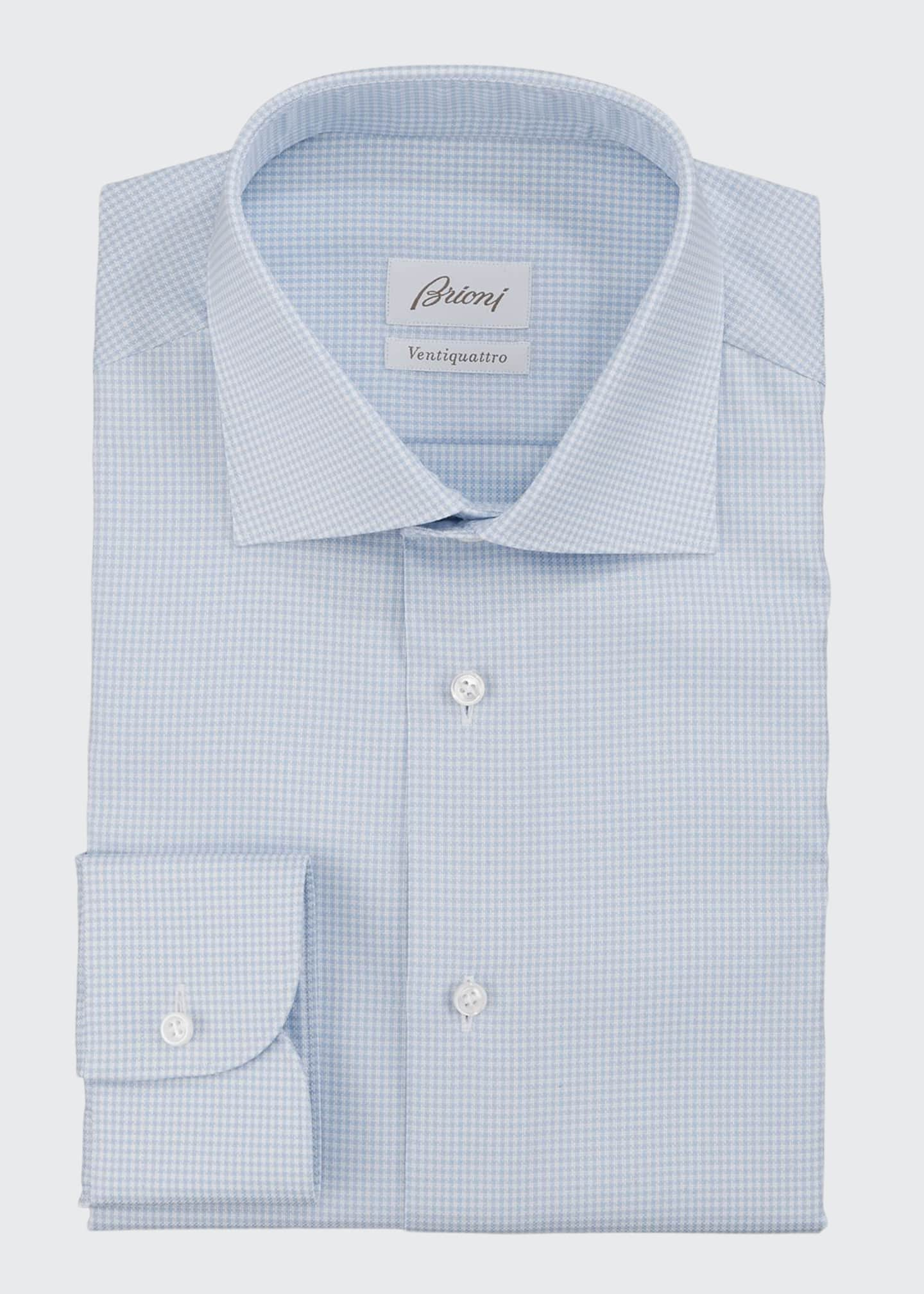 Brioni Men's Ventiquattro Check Dress Shirt