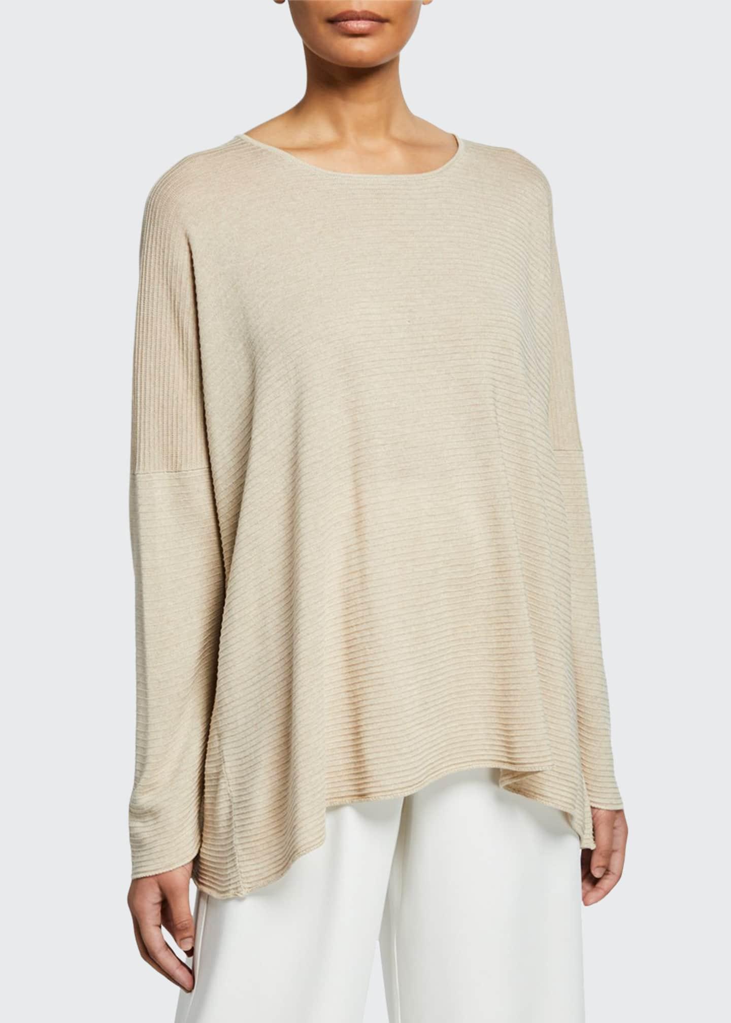 Eskandar Ultra Lightweight Raw Edge Silk Sweater