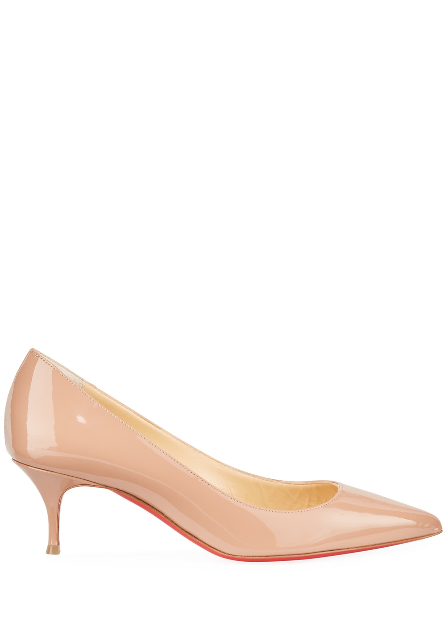 Image 2 of 4: Kate Patent Red Sole Pumps