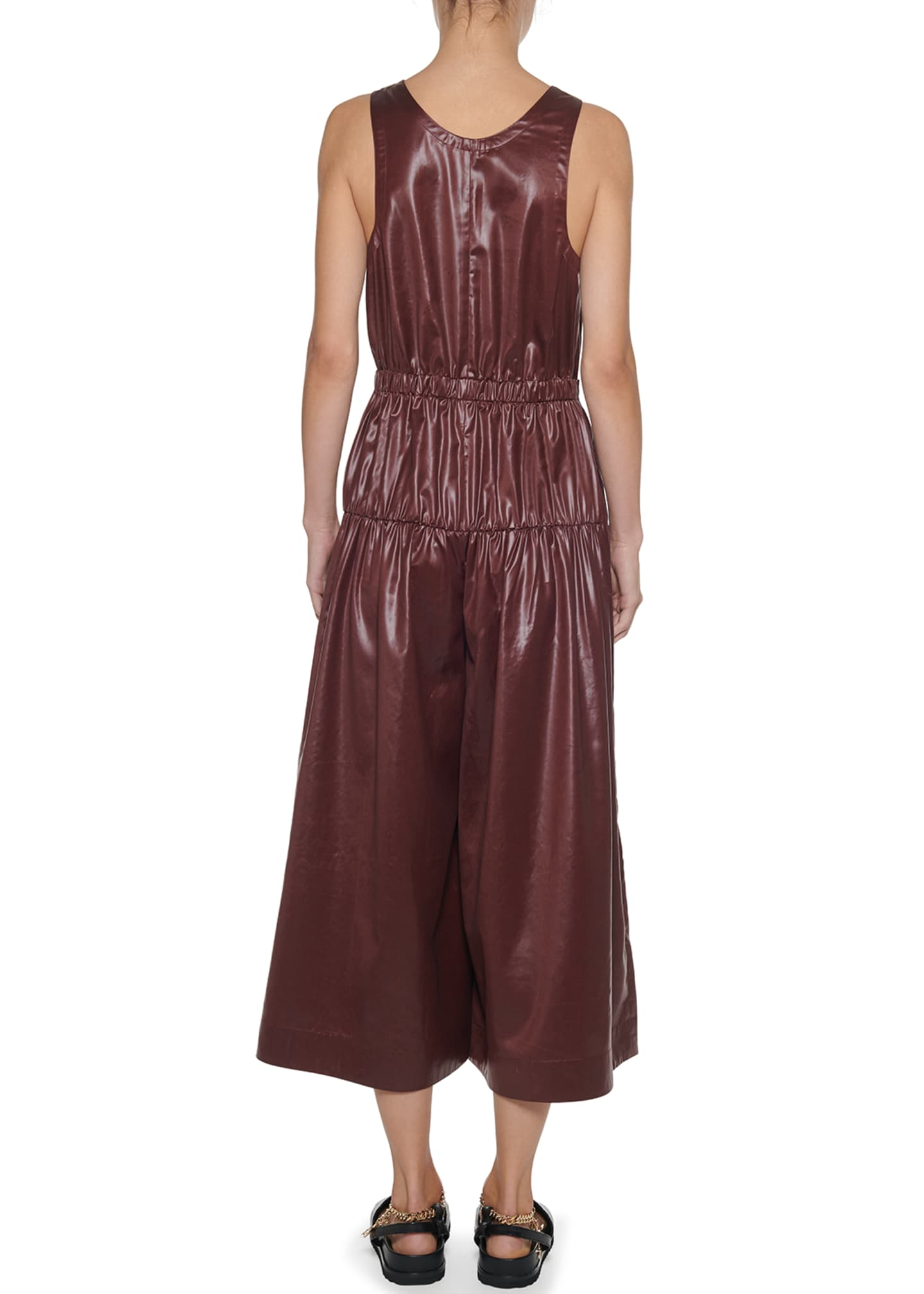 Image 2 of 3: Sleeveless Shirred Culotte Jumpsuit