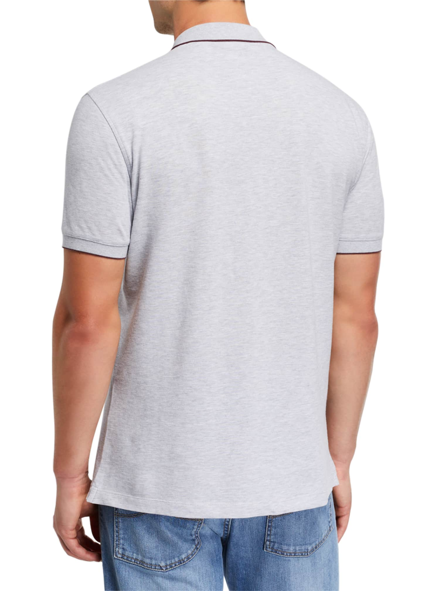 Image 2 of 2: Men's Contrast-Tipped Polo Shirt