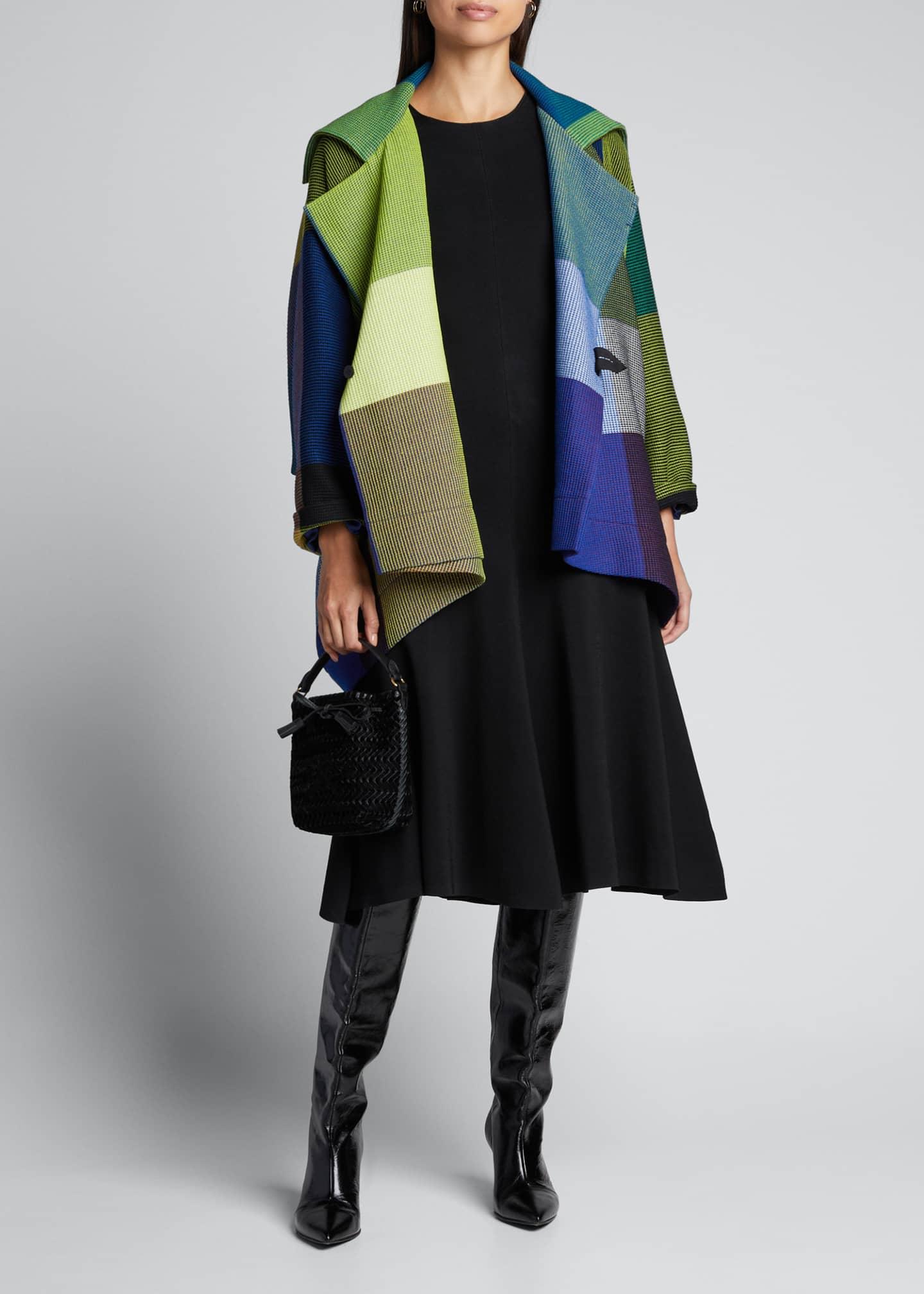Issey Miyake Textured Wrapped Wool Short Coat