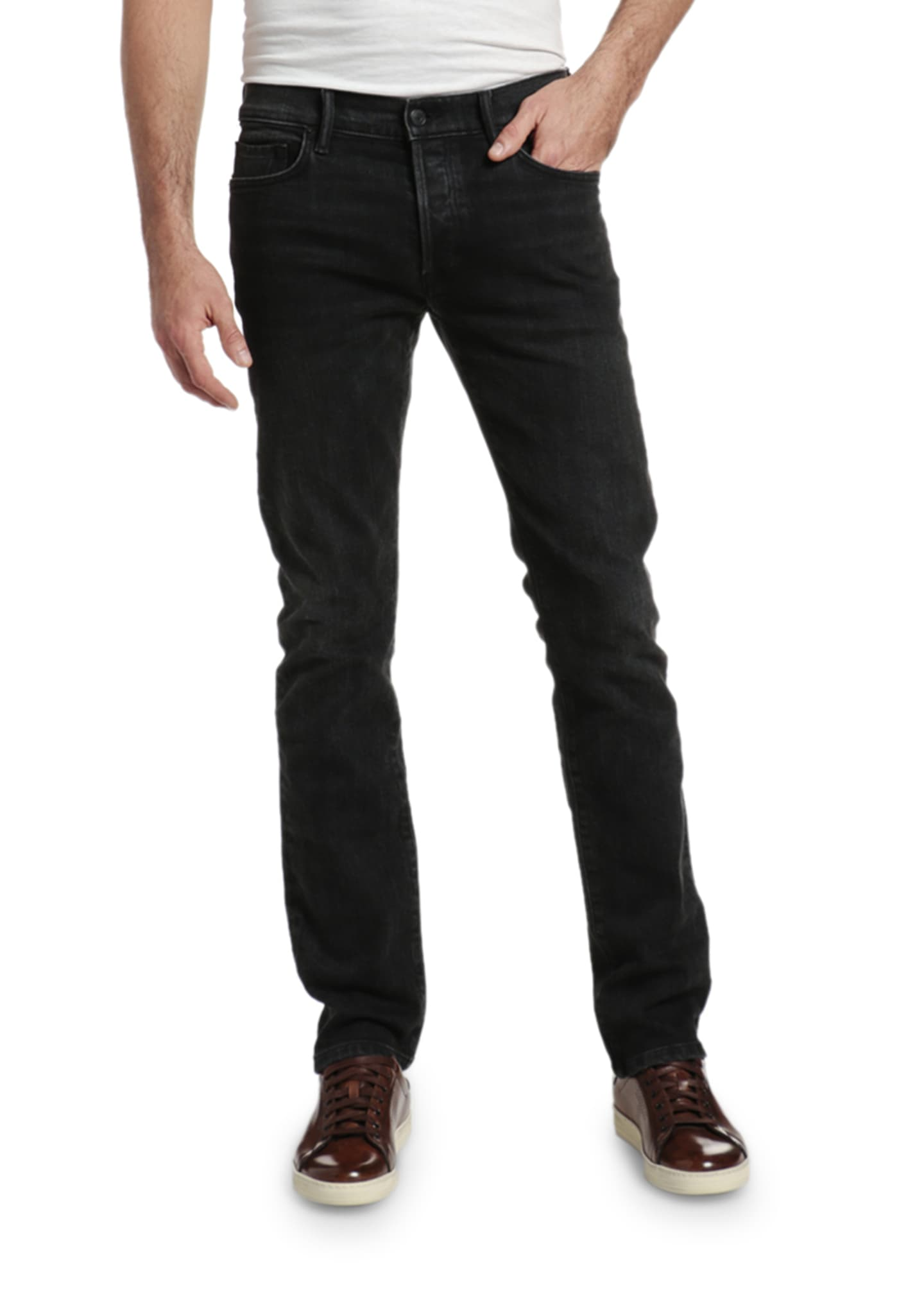 Image 2 of 3: Men's Slim Straight-Leg Stretch Denim Jeans