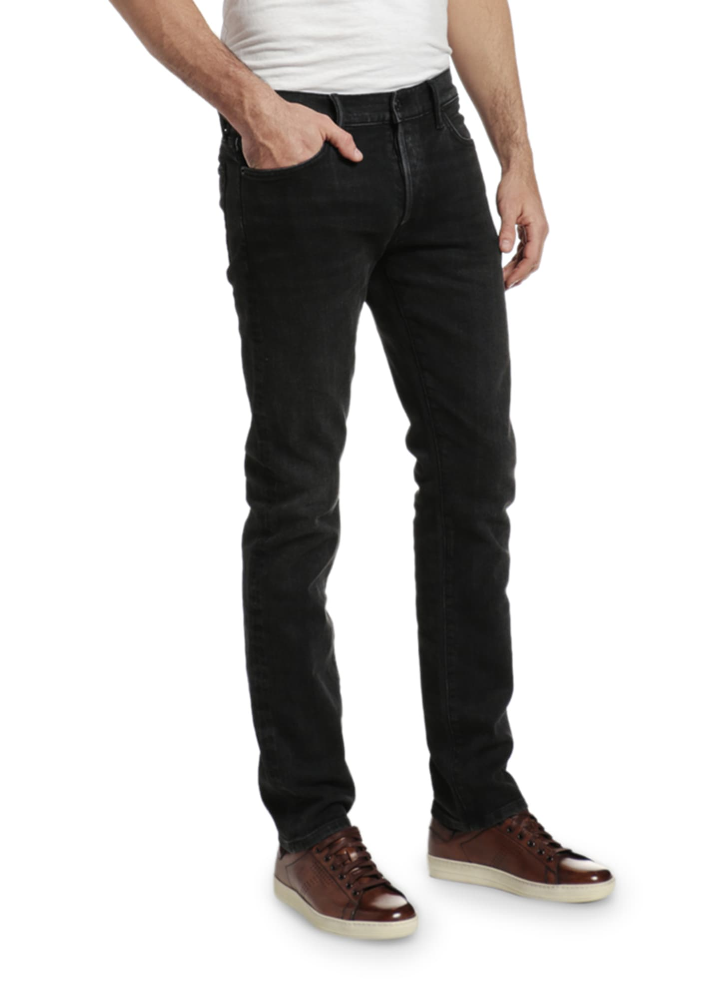 Image 3 of 3: Men's Slim Straight-Leg Stretch Denim Jeans